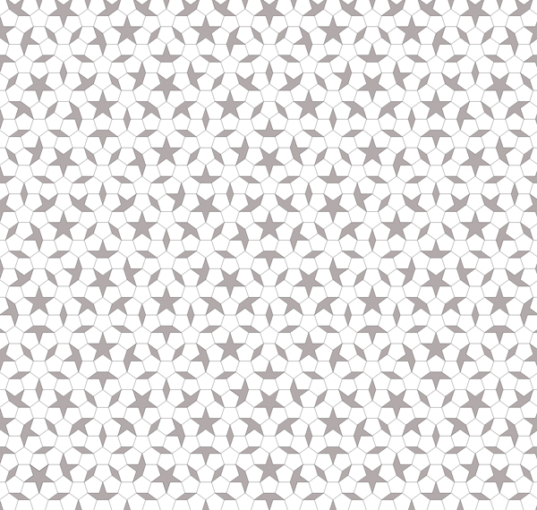 Patch Penrose Pentagon Boat Star